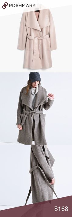 Madewell. Delancey Blanket Coat. Beige cream pinkish color. Brand new with tags! Second and third photo show fit, not the color. Size XXS but runs large and best fits an XS  🚫 no trades ✖️ no holds 🔵 offers considered through the offer button ♻️ if it's listed, it's available Madewell Jackets & Coats