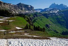 The Teton Crest Trail follows the bench of Death Canyon Shelf up and over Mount Meek Pass and down to Alaska Basin. Photo by Peter Potterfield