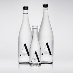 Akka water packaging design by Stockholm Design Lab. Water Packaging, Glass Packaging, Cool Packaging, Luxury Packaging, Beverage Packaging, Brand Packaging, Packaging Design, Coffee Packaging, Water Branding