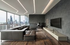 TruLine 1.6A Plaster-In LED System 5W 24VDC by Pure Lighting | Designer Credit: SK Design Group