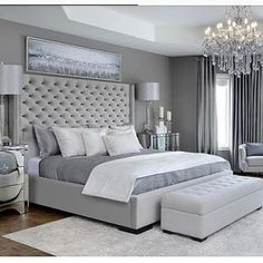 Modern Bedroom Carpet Ideas - Future Home - Bedroom Decor Grey Bedroom Design, Simple Bedroom Design, Bedroom Ideas Grey, Modern Grey Bedroom, Trendy Bedroom, Master Bedroom Furniture Ideas, Classy Bedroom Ideas, Bedroom Colors, Fancy Bedroom
