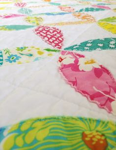 Orange peel quilt - no piecing, easy sew on top method
