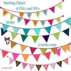 carnival birthday - bunting clip art