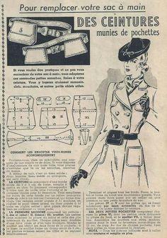 Vintage Purses, Vintage Bags, Vintage Outfits, Vintage Accessoires, Diy Vintage, Leather Fanny Pack, Tote Pattern, Vintage Couture, Pattern Drafting