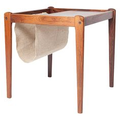 Teak Magazine Holder | From a unique collection of antique and modern racks and stands at https://www.1stdibs.com/furniture/more-furniture-collectibles/racks-stands/