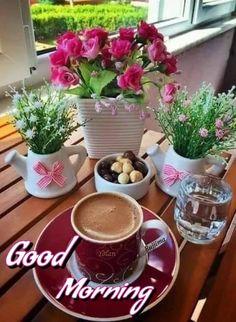 Good Morning Coffee, Coffee Break, Saturday Coffee, Coffee Cafe, Coffee Drinks, Tea And Books, Coffee Pictures, Good Morning Flowers, Turkish Coffee