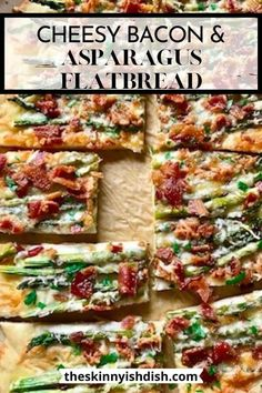 My Cheesy Bacon and Asparagus Flatbread will be one of your most versatile recipes. From an appetizer to breakfast, brunch to dinner. This recipe is the most easy, made from scratch flatbread around. It's great for any day of the week, but fancy enough for a holiday event! #flatbread #baconasparagus Asparagus Pizza, Asparagus Recipe, Grilled Asparagus, Brunch Recipes, Dinner Recipes, Dinner Menu, Drink Recipes, Cooking For Beginners, Cooking Videos