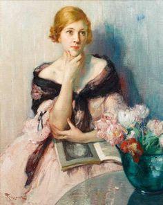 Fernand Toussaint (Belgian, 1873-1955) - Deep in thought