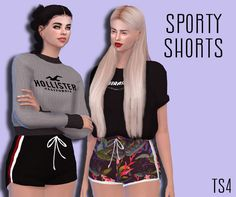Sporty Shorts Female Teen - Young - Adult - Elder HQ Mod compatible You need the mesh too DOWNLOAD!