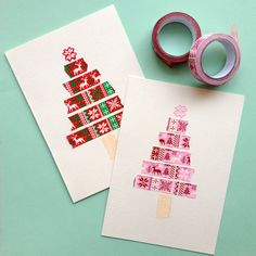 Washi Tape Trees