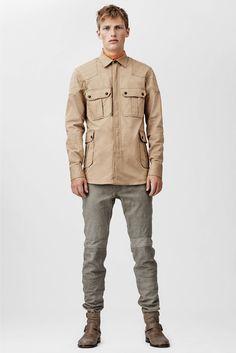 Leather pant men fashion