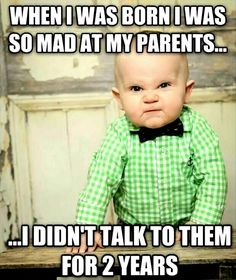 Get your laugh on to 27 Super Funny Baby Memes! Baby Memes, Funny Baby Jokes, Baby Quotes, Funny Babies, Funny Kids, Baby Humor, Quotes Quotes, Funny Baby Pictures, Funny Images