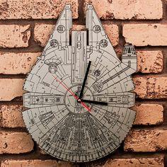 Star Wars Millennium Falcon Artisan Laser-Engraved Clock