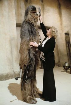 Behind the scenes photos of the Star Wars Trilogy