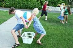 New Backyard Games Relay Races 59 Ideas Family Reunion Games, Family Games, Family Reunions, Family Reunion Crafts, Youth Group Games, Youth Groups, Bible Games For Youth, Team Bonding Games, Bible School Games