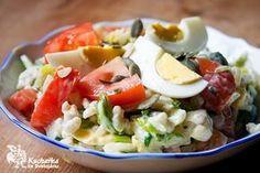 Kuchařka ze Svatojánu: KROUPOVÝ SALÁT Caprese Salad, Cobb Salad, Polenta, Quinoa, Potato Salad, Food And Drink, Potatoes, Vegetarian, Chicken