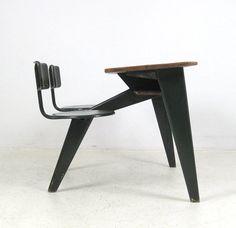 2 seater desk, Jean Prouvé.
