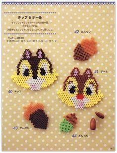 Chip n' Dale - Disney perler beads