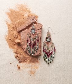 Analisa Earrings - Handcrafted by Huichol artists, deftly beaded dangle earrings with down-to-earth drama are sure to draw compliments.