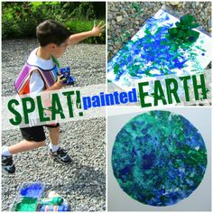 Splat painted Earth