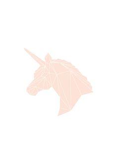 Geometric unicorn, poster
