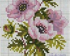 78 gráficos de flores em ponto cruz para imprimir