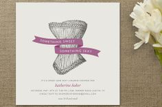 love this invitation, it's so vintage looking. the font and ribbon should be pink