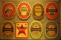 A history of Heineken bottle labels. #themagicofheineken #heineken #hulu