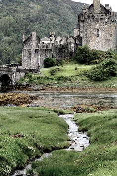 The Eilean Donan Castle Ruin - Scotland (went here on an excursion from the cruise ship. Most of castle is a rebuild, not original. Still, pretty cool and beautiful scenery along the way). Oh The Places You'll Go, Places To Travel, Places To Visit, Beautiful Castles, Beautiful Places, Beautiful Scenery, Magic Places, Eilean Donan, Castle Ruins