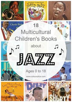 Multicultural Children's Books about Jazz; Diverse Picture Books about jazz and African American jazz legends; for ages 0 to babies to teenagers. Best Children Books, Childrens Books, Teaching Music, Teaching Kids, Black History Books, Music Activities, Multicultural Activities, Music Classroom, Future Classroom