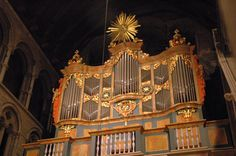 Organ in Nidaros Cathedral, Trondheim.  This baroque organ was built by Joachim Wagner and was completed in 1741.
