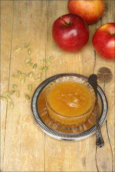 Compota de maçã, canela e cardamomo Chutney, Muffin, Good Food, Health Fitness, Pudding, Sweets, Homemade, Meals, Fruit