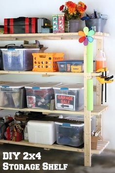 This simple build will final give you a place for all of those plastic bins!