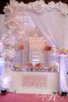 65 Ideas For Wedding Backdrop Diy Reception Head Tables Paper Flowers Wedding Show Booth, Wedding Shoot, Diy Wedding, Wedding Events, Wedding Flowers, Dream Wedding, Wedding Day, Weddings, Paper Flower Backdrop