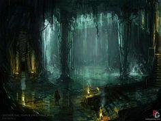 temple of crocodile pool from age of conan: hyborian adventures