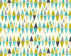 Lime Twist - March of Diamonds - Eggshell