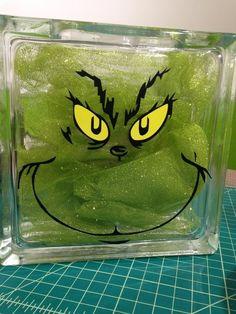 The Grinch Glass Block  www.decalgorilla.com  www.facebook.com/decalgorillacom