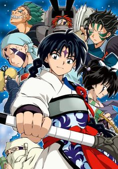 The Band of Seven (Shichinintai) from InuYasha. Might try to gather enough people to go as the Band of Seven with at least Bankotsu, Renkotsu, Suikotsu and Jakotsu. (I personally think the other three are just a teensy-weensy bit impossible to create.)