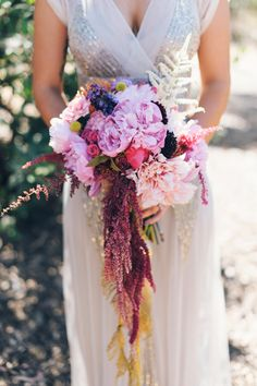 incredible bouquet // photo by Color Me Rad // floral styling by laceandlikes // view more: http://ruffledblog.com/aqua-pink-carlsbad-wedding