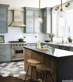 {For the Love of Kitchens} Gray & White Kitchen