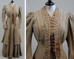 Gray walking suit, ca. 1890-1910. Kerry Taylor Auctions/Artfact