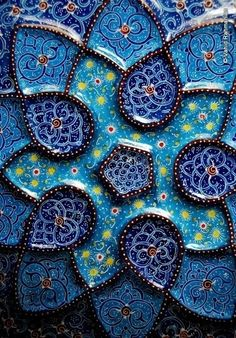 The iranian handicraft art of minakari