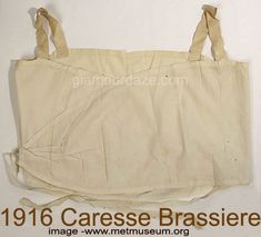 Brassiere Date: Culture: American or European Medium: linen Dimensions: Length (from shoulder): 17 in. cm) Credit Line: Gift of Jessie Leonard Hill, Charles R., and Laura Leonard Ault, 1978 Accession Number: Isadora Duncan, New York Socialites, Vintage Outfits, Vintage Fashion, Vintage Clothing, Vintage Style, Old Bras, Retro Lingerie, Evolution Of Fashion