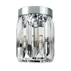 From 13.99 Contemporary Chrome & Clear Acrylic Flush Ceiling Light Fitting Lounge Living Room Lighting
