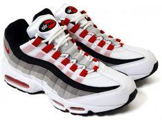 Nike Air Max 95 - White/Comet Red/Neutral Grey/Medium Grey