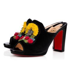 1eb1d5302606 Shoes - Mule Raffia Nappa Shinny piping - Christian Louboutin