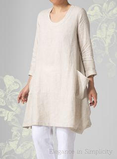 Long sleeves sheer linen. Top off your layered look in a relaxed, airy, slouchy design. The ideal alternative to a casual tee. www.vividlinen.com