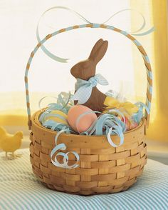 "Easter Crafts: Use ""green"" grass in kids' Easter baskets this year; get them to help shred multi-colored sheets of recycled paper for a second use."