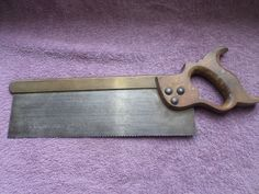 Brass Backed 12 Inch Tenon Saw 12 Teeth per inch With a Beech handle cuts very well may need to be sharpened and teeth reset Unknown maker Any questions please contact me. Antique Tools, Brass, Free Shipping, Antiques, Unique Jewelry, Handmade Gifts, Etsy, Vintage, Antiquities