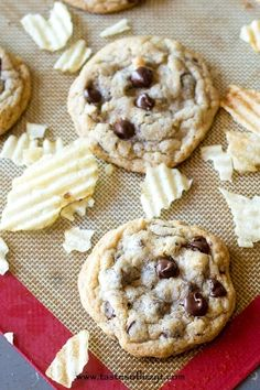 Sweet & Salty Potato Chip Cookies Recipe  - Tastes of Lizzy T